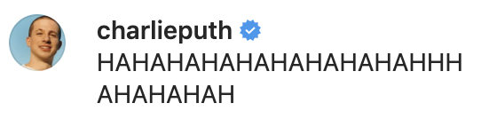 Charlie Puth reacts to Shawn Mendes and Camila Cabello's silly, slobbery kiss. (Screenshot: Shawn Mendes via Instagram)