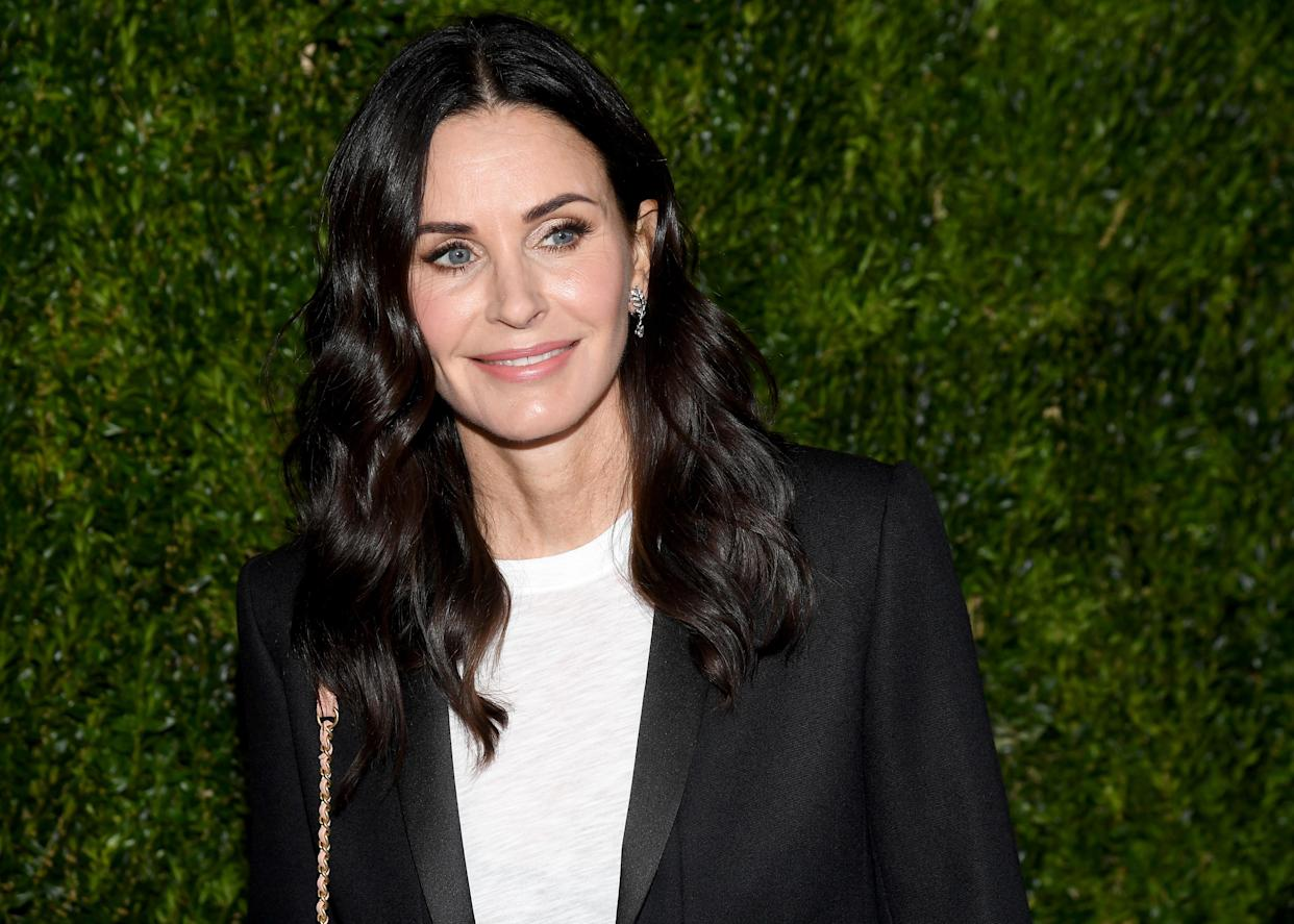 NEW YORK, NY - OCTOBER 16:  Courteney Cox wearing Chanel at Through Her Lens: The Tribeca Chanel Women's Filmmaker Program Luncheon at Locanda Verde on October 16, 2018 in New York City.  (Photo by Nicholas Hunt/WireImage)