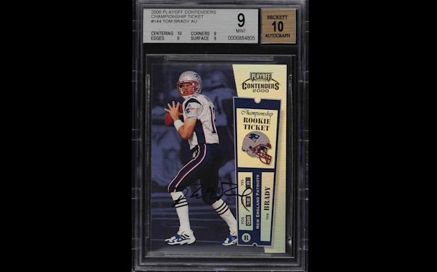 A Tom Brady card sold for $400,000 at auction. (Via PWCC Marketplace)