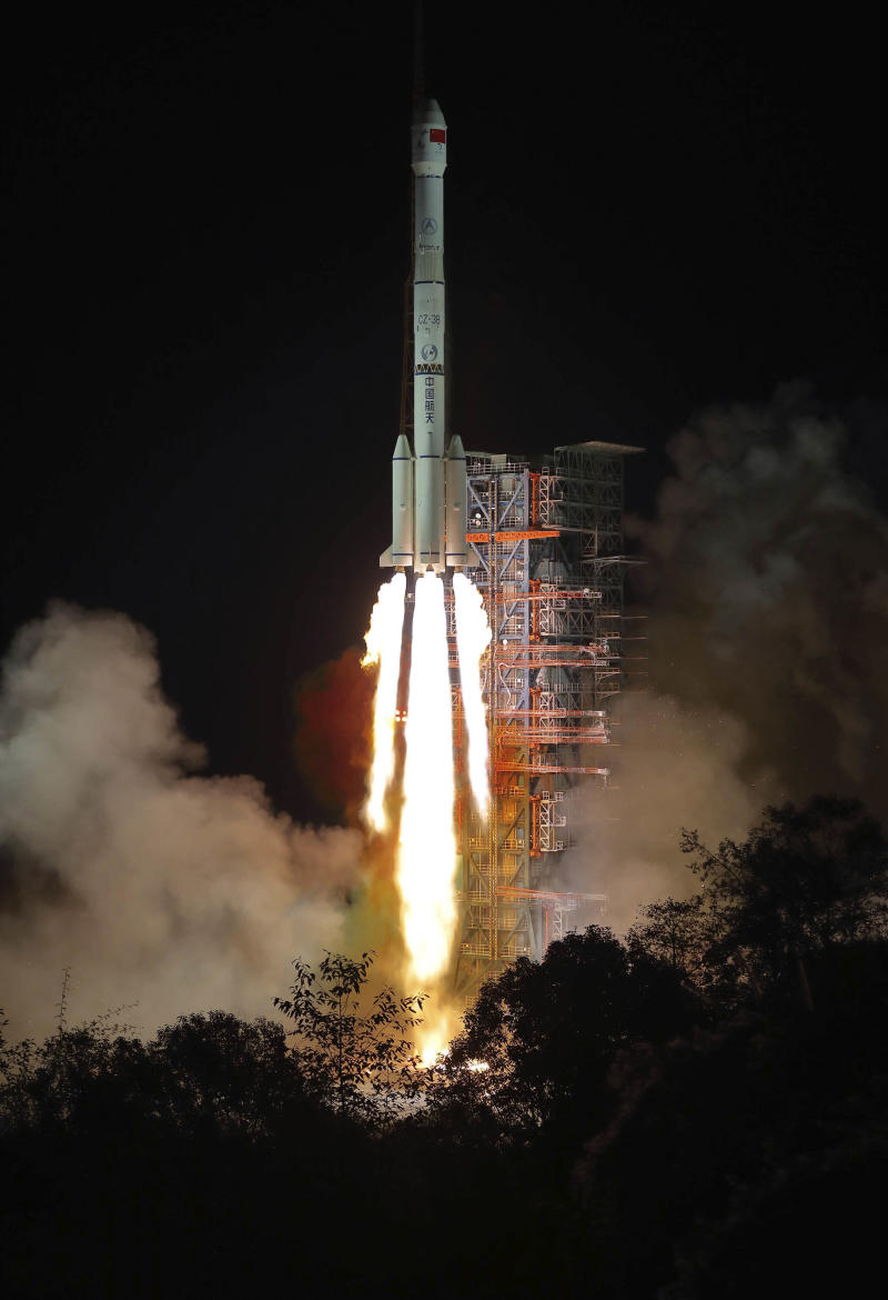 The Chang'e 4 lunar probe launches from the the Xichang Satellite Launch Centre