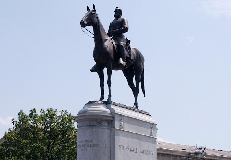 The Gen. Thomas 'Stonewall' Jackson Monument is located on Monument Avenue in Richmond, Virginia. The equestrian statue of the famed Confederate general was created by sculptor Frederick William Sievers.