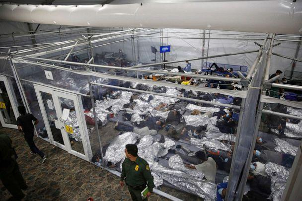 PHOTO: Minors are housed inside a pod at the Donna Department of Homeland Security holding facility, the main detention center for unaccompanied children in the Rio Grande Valley run by U.S. Customs and Border Protection,  Donna, Texas, March 30, 2021. (Dario Lopez-mills/AP, FILE)