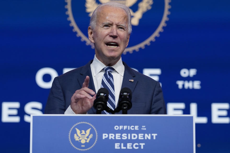 President-elect Joe Biden has called the president an embarrassment.