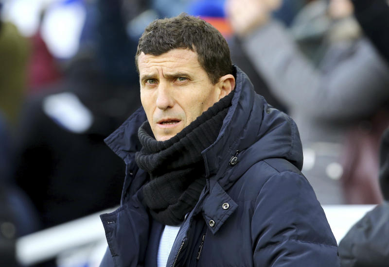 Watford manager Javi Gracia prior to the English Premier League soccer match against Brighton at the AMEX Stadium, Brighton, England, Saturday Feb. 2, 2019. (Gareth Fuller/PA via AP)