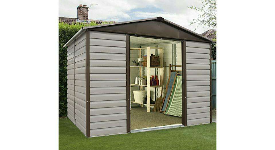 Yardmaster Shiplap No Floor Metal Shed 10 x 6ft (Robert Dyas)