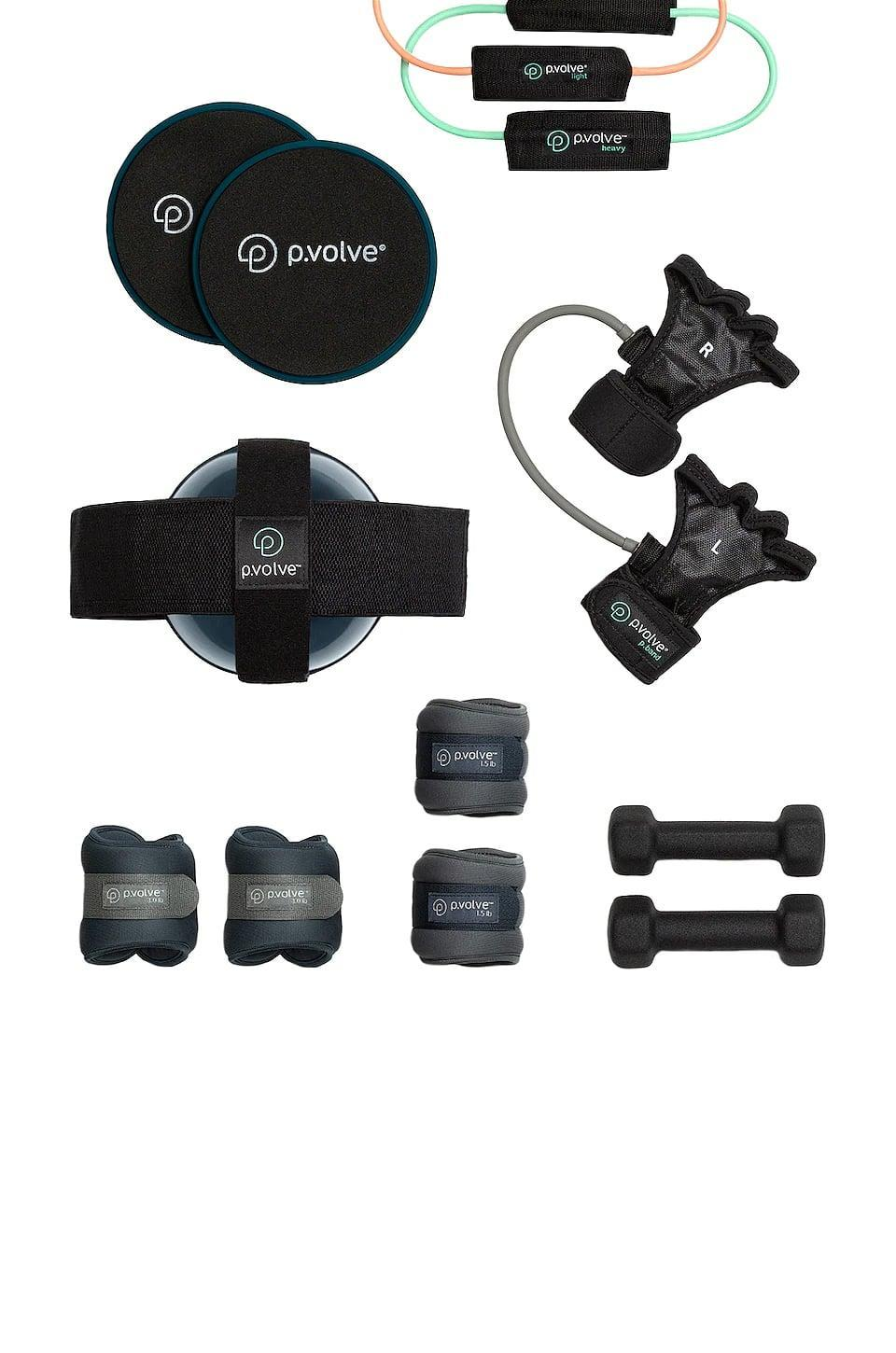 <p>If you're looking for an all-in-one set, this <span>P.volve Ultimate P.volve Package</span> ($190) has been a game-changer for me. It consists of a set of hand weights, two sets of ankle weights, two resistance bands, gliders, and the method's proprietary P.ball and P.band. P.volve has been a workout I've returned to over and over again, but you can also use this equipment for other exercises, and truthfully, it's got everything covered.</p>