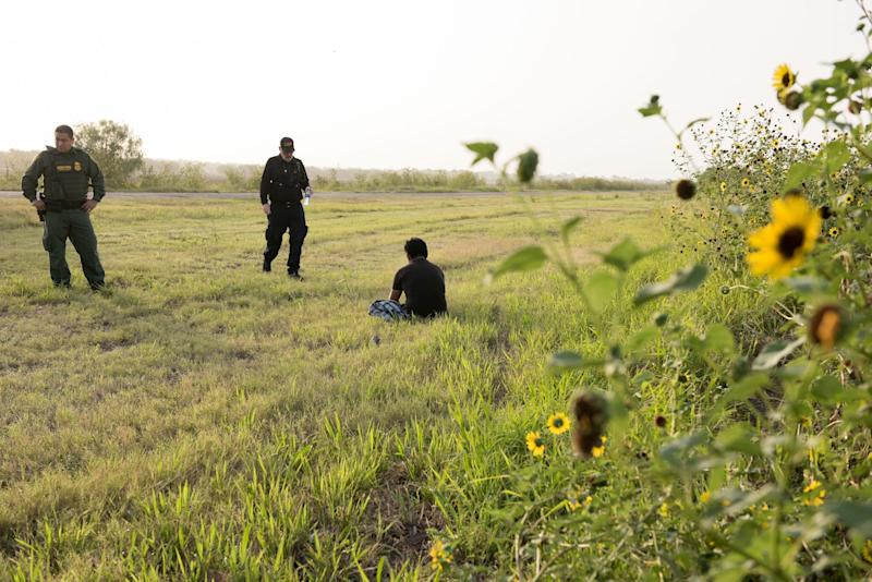 MCALLEN, Texas – An unaccompanied minor from Guatemala is detained by border patrol along the Rio Grande Valley Sector on June 25, 2019. The minor traveled with a group but became lost once they crossed into the United States illegally.