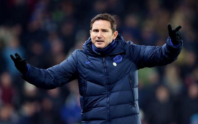 Frank Lampard, pictured, is excited about the prospect of Timo Werner joining Chelsea (Richard Sellers/PA)