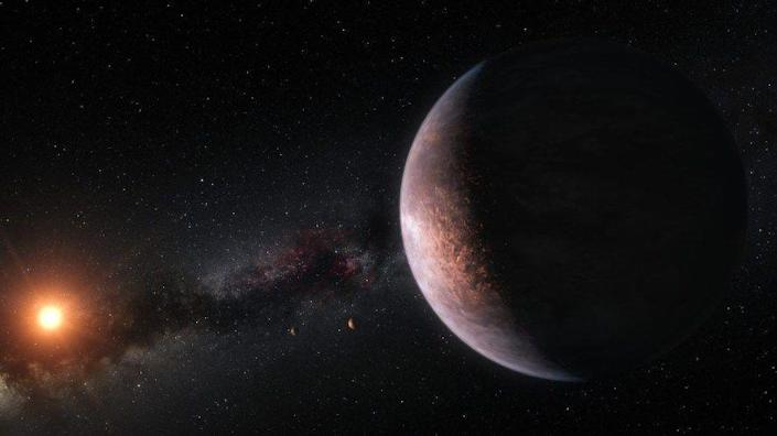 <p>GJ 1061 c is one of three exoplanets orbiting the red dwarf Gliese 1061, which lies roughly 12 light-years away from Earth and is the 20th nearest star. It has an orbital period of about 6.7 Earth days.</p>