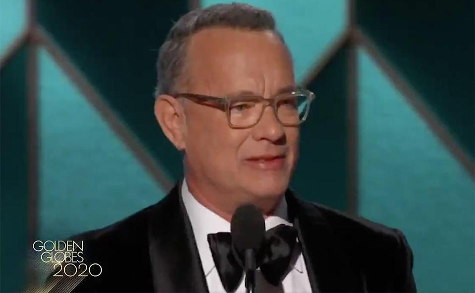 <p>Tom Hanks won the Cecil B. DeMille Award in 2020, and gave a heartfelt speech thanking his family, his past directors and DeMille himself. </p>