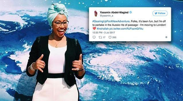 Yassmin Abdel-Magied accompanied her tweet with a grinning thumbs up. Photo: Twitter