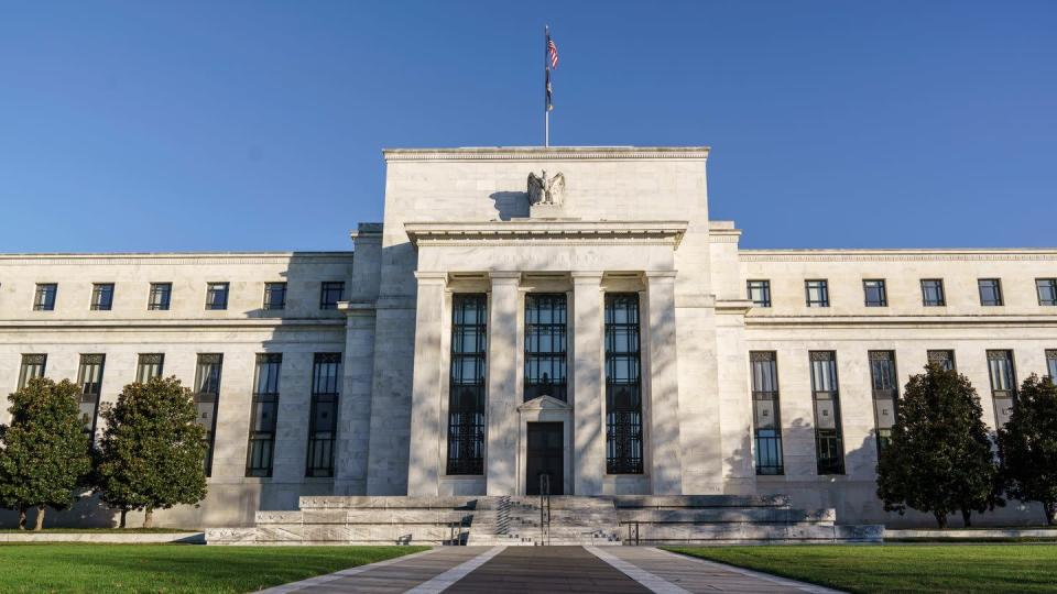 Das Gebäude der US-Notenbank Federal Reserve in Washington.