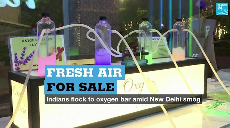 Fresh air for sale: The New Delhi oxygen bar offering respite from smog