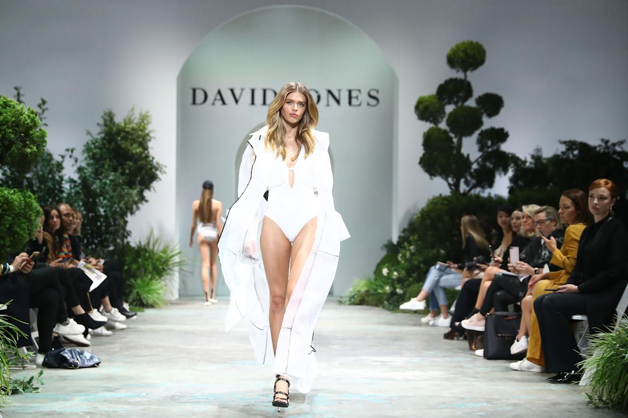 <p>Aussie Victoria's Secret model, Victoria Lee, showed off her incredible figure in a white swimsuit. Photo: Getty Images </p>