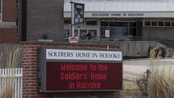 PHOTO: A welcome sign is seen outside the Soldier's Home in Holyoke, Mass., March 31, 2020. (CJ Gunther/EPA via Shutterstock)