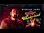 """<p>No list of scary movies is complete without a good horror comedy. Cut to: <em>Willy's Wonderland</em>, which some horror film professor will dig up in 2076 and deem a beautiful relic of our hellish world. <em>Willy's Wonderland </em>stars Nic Cage as a janitor who has to fight off all the dark-sided animatronic mascots at a theme park. Reading that sentence should give you the biggest FOMO of your life.</p><p><a class=""""link rapid-noclick-resp"""" href=""""https://www.amazon.com/Willys-Wonderland-Nicolas-Cage/dp/B08V5H9VCJ?tag=syn-yahoo-20&ascsubtag=%5Bartid%7C10054.g.35141177%5Bsrc%7Cyahoo-us"""" rel=""""nofollow noopener"""" target=""""_blank"""" data-ylk=""""slk:Watch Now"""">Watch Now</a></p><p><a href=""""https://www.youtube.com/watch?v=0v27rfaoB2Y&t"""" rel=""""nofollow noopener"""" target=""""_blank"""" data-ylk=""""slk:See the original post on Youtube"""" class=""""link rapid-noclick-resp"""">See the original post on Youtube</a></p>"""