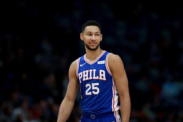 "It appears Ben Simmons is a fan of ""Egg Boy."" (Photo by Sean Gardner/Getty Images)"