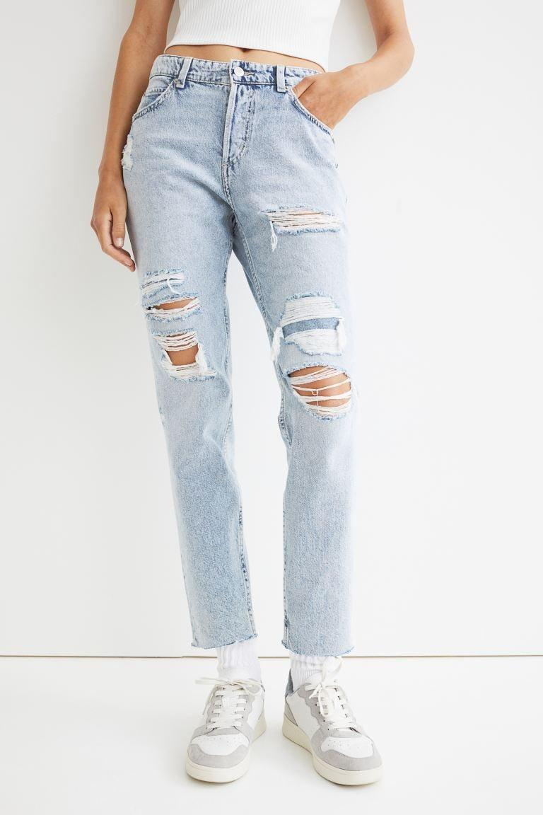 <p>When you need to throw on something quickly and run out the door, don't reach for your leggings again. Try these cool, casual <span>H&amp;M Boyfriend Low Regular Jeans</span> ($36, originally $40) with jeans and a T-shirt.</p>