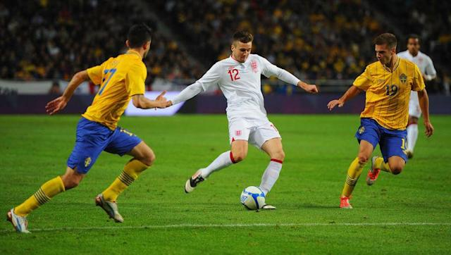 <p>One of six players handed their first senior England appearance in the surprise 4-2 defeat to Sweden to gain his only cap to date, Jenkinson won't look back on this game fondly.</p> <br><p>The Three Lions were put to the sword by legendary striker Zlatan Ibrahimovic's four-goal salvo in November 2012.</p> <br><p>Jenkinson, who's on a season-long loan at Birmingham, wasn't at fault for such a scoreline but still flattered to deceive when called upon by then manager Roy Hodgson, and will find it tough to ever add to his tally.</p>