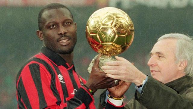 <p>Signed in 1995 to replace Marco van Basten, George Weah won two Scudetto's with Milan and scored a bundle of goals before leaving at the age of 33.</p> <br><p>After his first year at the San Siro, he won the Balon d'Or, becoming the first ever African to win the award.</p>