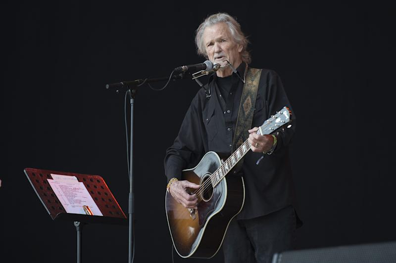 Kris Kristofferson onstage at Glastonbury 2017 (credit: WENN)