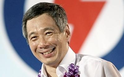 PM Lee Hsien Loong launched the PAP's manifesto on Sunday, ahead of the General Election. (AFP photo)