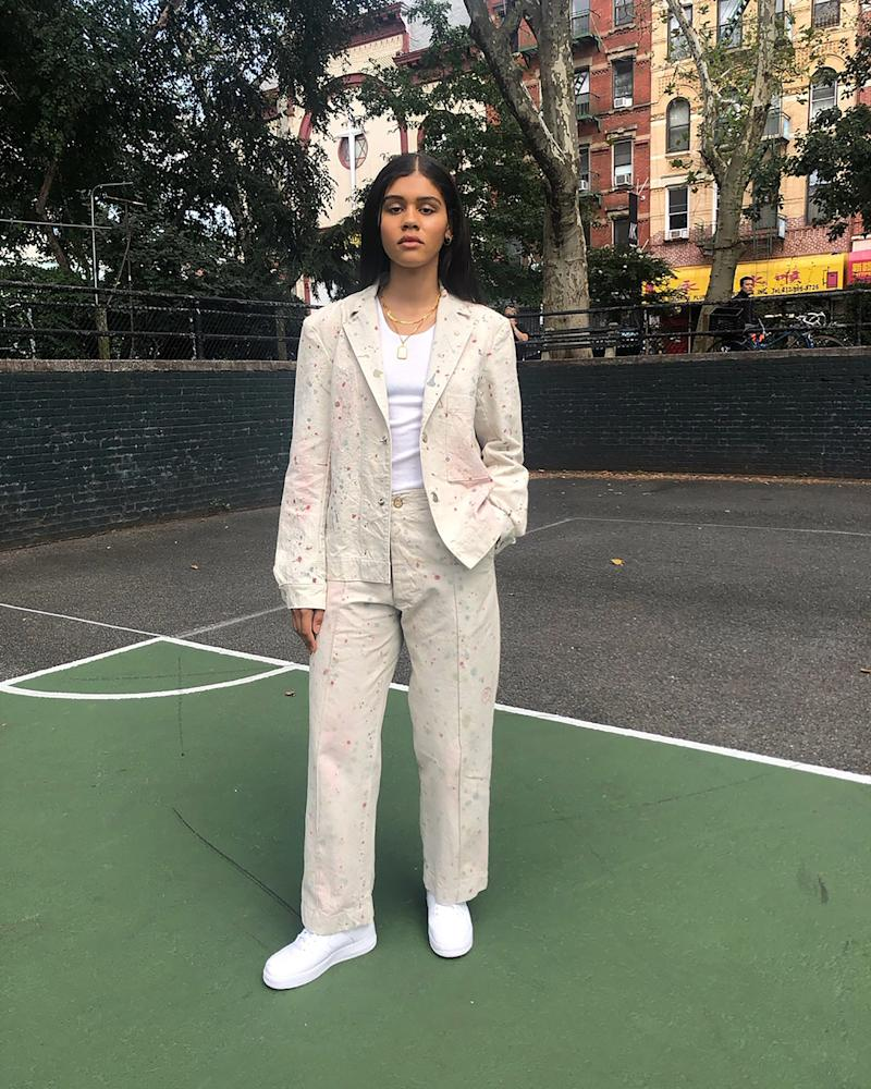 Day two, and I went to the Maryam Nassir Zadeh show (which was so beautiful, btw wtfff gurl). Mobbing around the Lower East Side after in my custom suit by Clutchgolf.