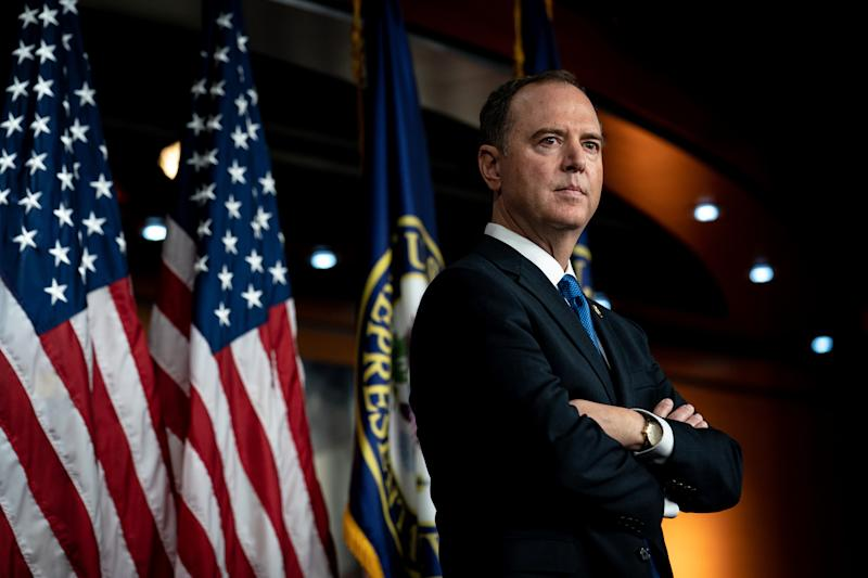 House Intelligence Committee Chair Adam Schiff (D-Calif.) attends a news conference on Capitol Hill, in Washington on Wednesday, Oct. 2, 2019. (Erin Schaff/The New York Times)