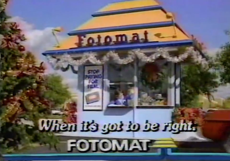 <p>Back when people took real photos with actual cameras, you had to get them developed somewhere. Enter Fotomat, founded by businessman Preston Fleet in California in 1968. The company's gold-roofed kiosks soon popped up by the thousands in parking lots across America, and you could drive up and pick up your finished photos the next day. Most Fotomats shut down by the late '90s when one-hour film developing made the business obsolete. <br></p>