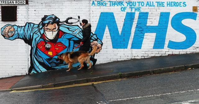 A mural thanking the NHS on Ballyregan Road in east Belfast (Brian Lawless/PA)
