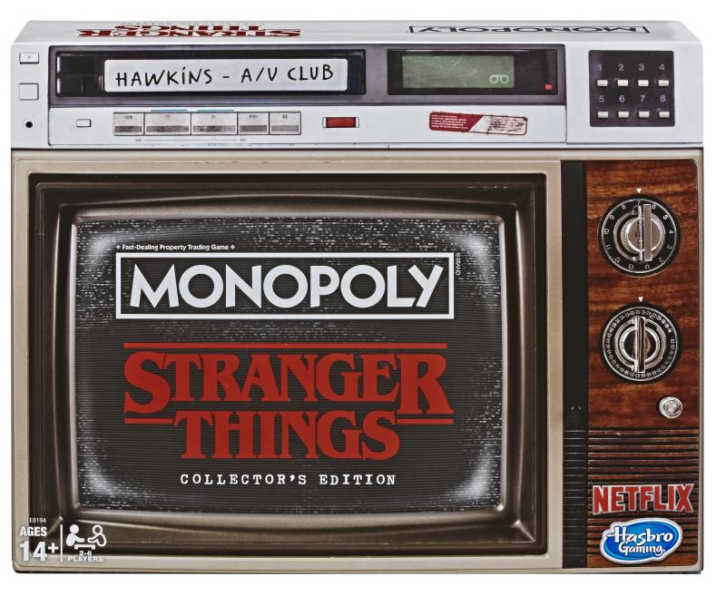 'Stranger Things Monopoly' comes in retro-flavored packaging. (Photo: Hasbro)