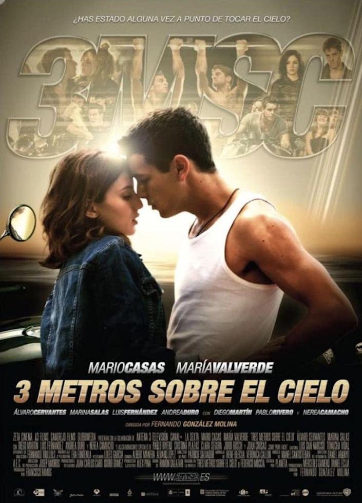 """<p>Babi (<strong><a href=""""https://www.imdb.com/name/nm1482999/"""" rel=""""nofollow noopener"""" target=""""_blank"""" data-ylk=""""slk:María Valverde"""" class=""""link rapid-noclick-resp"""">María Valverde</a></strong>) and Hugo (<a href=""""https://www.imdb.com/name/nm1832584/"""" rel=""""nofollow noopener"""" target=""""_blank"""" data-ylk=""""slk:Mario Casas"""" class=""""link rapid-noclick-resp""""><strong>Mario Casas</strong></a>) come from different worlds. Babi is a rich girl who wants to fall in love. Hugo enjoys fast motorcycles and the subsequent danger. This 2010 romance drama tells the series of events that lead to Babi and Hugo meeting each other and falling in love. If you've already watched<em> 3 Metros Sobre El Cielo</em>, the sequel, <em><a href=""""https://www.amazon.com/Tengo-Ganas-Ti-Mario-Casas/dp/B07NWT7VRK/?tag=syn-yahoo-20&ascsubtag=%5Bartid%7C10055.g.35564148%5Bsrc%7Cyahoo-us"""" rel=""""nofollow noopener"""" target=""""_blank"""" data-ylk=""""slk:Tengo Ganas de Ti"""" class=""""link rapid-noclick-resp"""">Tengo Ganas de Ti</a></em> (<em>I Want You</em>), picks up on their story.</p><p><a class=""""link rapid-noclick-resp"""" href=""""https://www.amazon.com/3-Metros-sobre-el-cielo/dp/B079WNCP7L?tag=syn-yahoo-20&ascsubtag=%5Bartid%7C10055.g.35564148%5Bsrc%7Cyahoo-us"""" rel=""""nofollow noopener"""" target=""""_blank"""" data-ylk=""""slk:STREAM NOW"""">STREAM NOW</a></p>"""