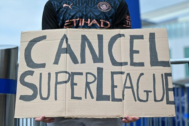 English supporters were up in arms over the Super League
