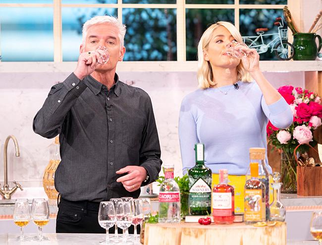 holly willoughby drinking