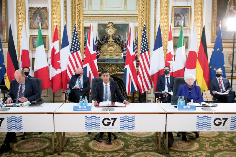 FILE PHOTO: FILE PHOTO: G7 Finance Ministers meeting in London