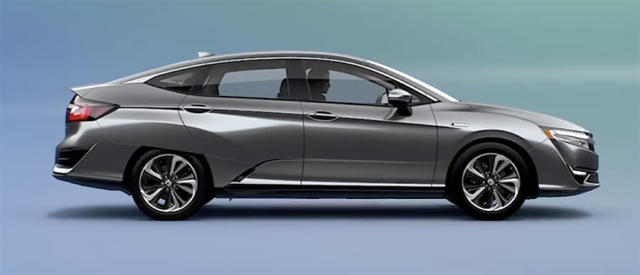 The Honda Clarity's front half looks better than the back half.
