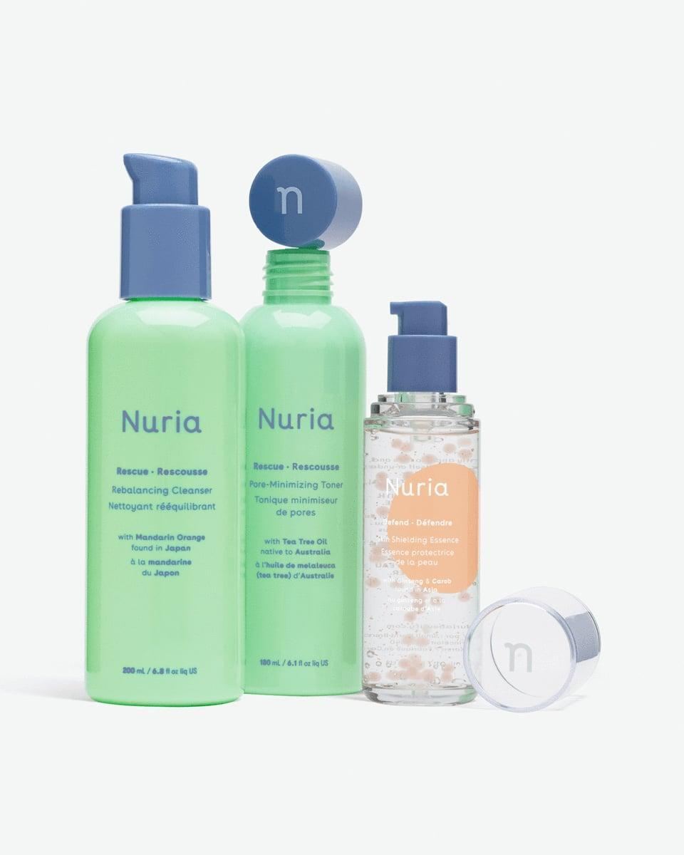"<p>By purchasing the <span>Nuria Troubled Skin Relief Set</span> ($59), you are not only helping a friend's skin but also supporting a very important cause: education. Year-round, the brand donates a portion of sales to <a href=""https://shesthefirst.org/"" class=""link rapid-noclick-resp"" rel=""nofollow noopener"" target=""_blank"" data-ylk=""slk:She's the First"">She's the First</a>.</p>"