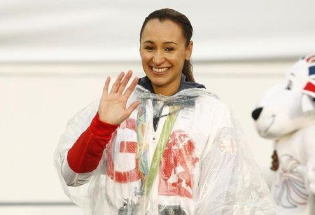 Jessica Ennis-Hill of Britain of Britain on stage.  Action Images via Reuters / Craig Brough Livepic