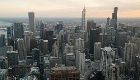 A general view of city of Chicago