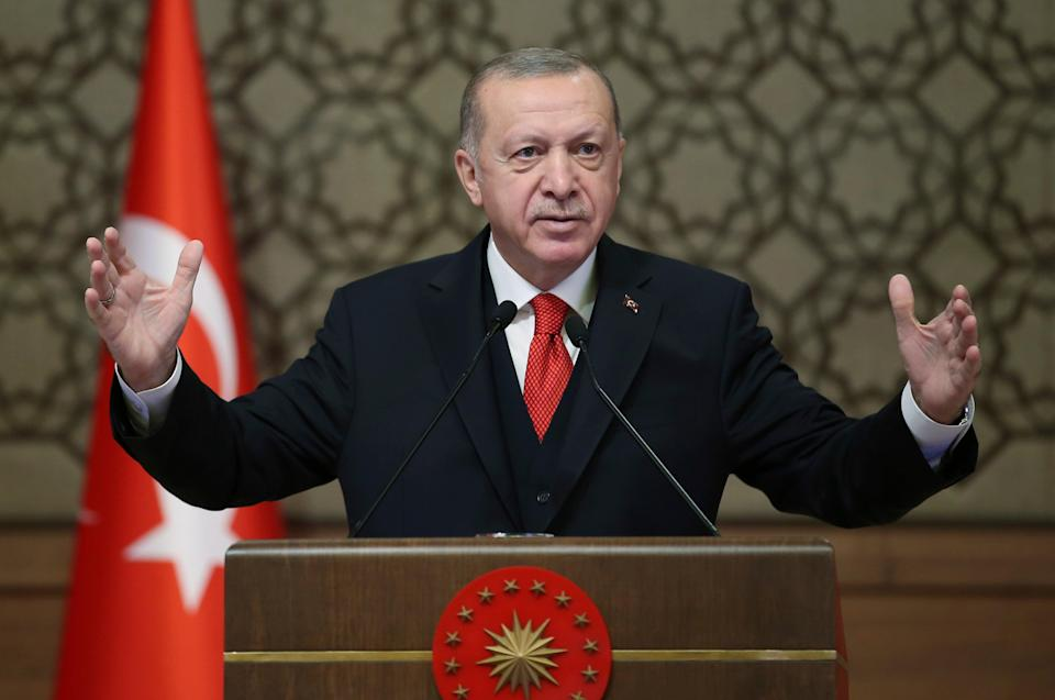 <p>Turkey's president Recep Tayyip Erdogan</p> (Turkish Presidency)