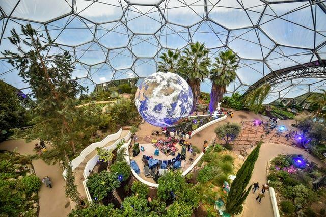 Giant replica of Earth at the Eden Project