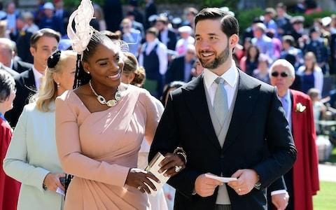 Alexis Ohanian with wife Serena Williams arrive for the wedding ceremony of Britain's Prince Harry, Duke of Sussex and US actress Meghan Markle - Credit: AFP
