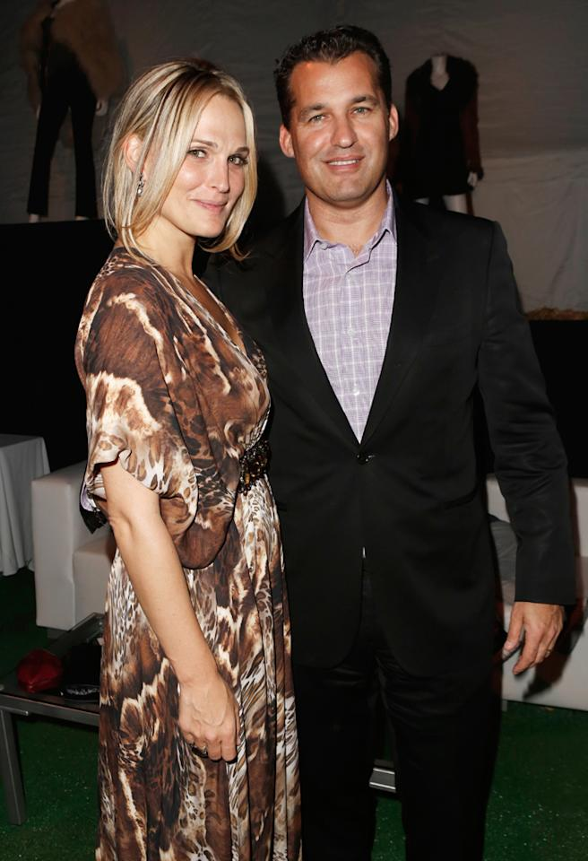 """LOS ANGELES, CA - NOVEMBER 12:  Actress Molly Sims (L) and Scott Stuber attend """"The Twilight Saga: Breaking Dawn - Part 2"""" after party at Nokia Theatre L.A. Live on November 12, 2012 in Los Angeles, California.  (Photo by Jeff Vespa/WireImage)"""