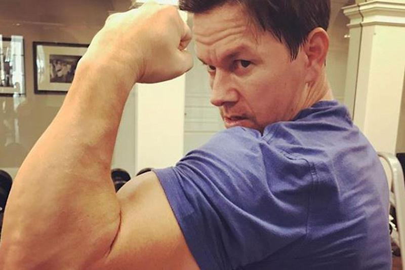 Muscle man: Mark Wahlberg has revealed his workout schedule: Instagram / Mark Wahlberg