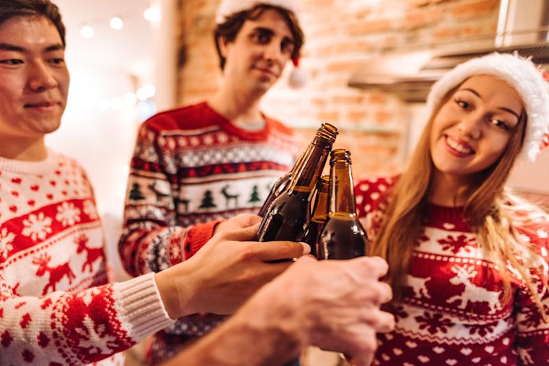 """""""Wow, I really hope there are some beer-related gifts under that tree."""" (Photo: franckreporter via Getty Images)"""