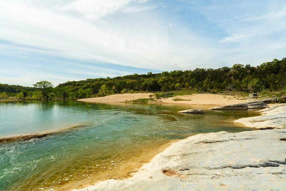 The natural beauty of the Pedernales Falls in the Texas Hill Country.