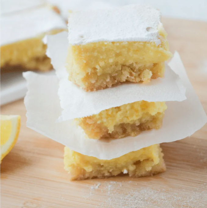 """<p>Enjoy the low carb combo of sweet and tangy with these easy bake keto lemon bars. </p><p><a class=""""link rapid-noclick-resp"""" href=""""https://www.heyketomama.com/keto-lemon-bars/"""" rel=""""nofollow noopener"""" target=""""_blank"""" data-ylk=""""slk:Get the recipe"""">Get the recipe</a></p><p><em>Per serving: 272 calories, 26 g fat, 8 g protein, 4 g carbohydrates</em></p>"""
