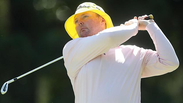 "<a class=""link rapid-noclick-resp"" href=""/pga/players/7544/"" data-ylk=""slk:Jarrod Lyle"">Jarrod Lyle</a>'s wife announced that he would be placed in palliative care on July 31.  (Photo by Chris Hyde/Getty Images)"