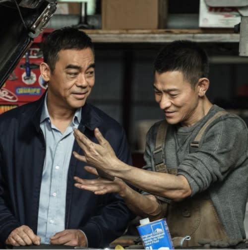 Andy with 'Shock Wave 2' co-star, Sean Lau. It's the script and story that matter, not the money, he says