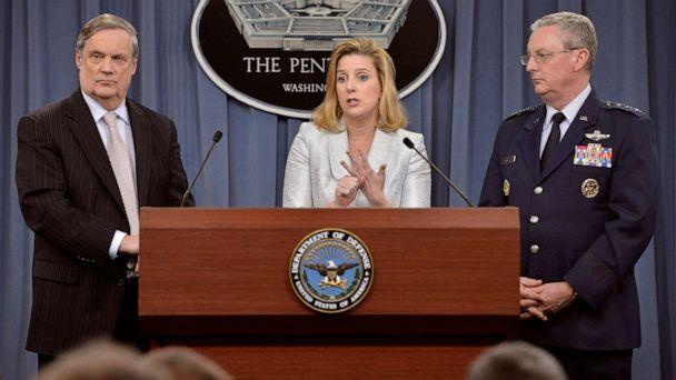 PHOTO: Christine Wormuth, the deputy undersecretary of defense for strategy, plans and force development briefs reporters on the department's fiscal year 2015 budget request at the Pentagon in Arlington, Va., March 4, 2014.  (Glenn Fawcett/U.S. Department of Defense)